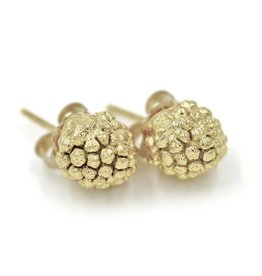 Kousa Dogwood Post Earrings - 14K Gold