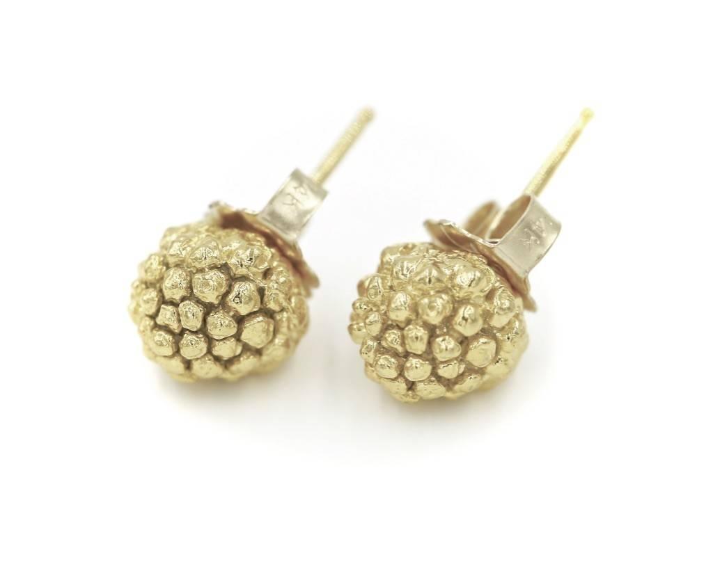 Kousa Dogwood Post Earrings - 14K Gold