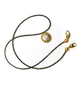 Sea Urchin Pendant Necklace - Single - Vermeil (CZ)