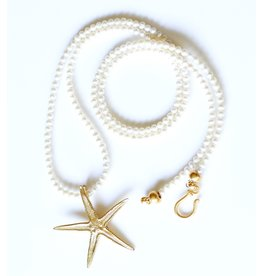 Starfish Pendant Necklace - Vermeil (Large) - Opera