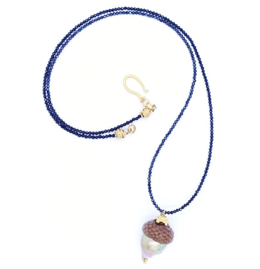 Baroque Pearl Acorn Pendant Necklace