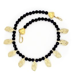 Garfish Scale Necklace - 14K Gold