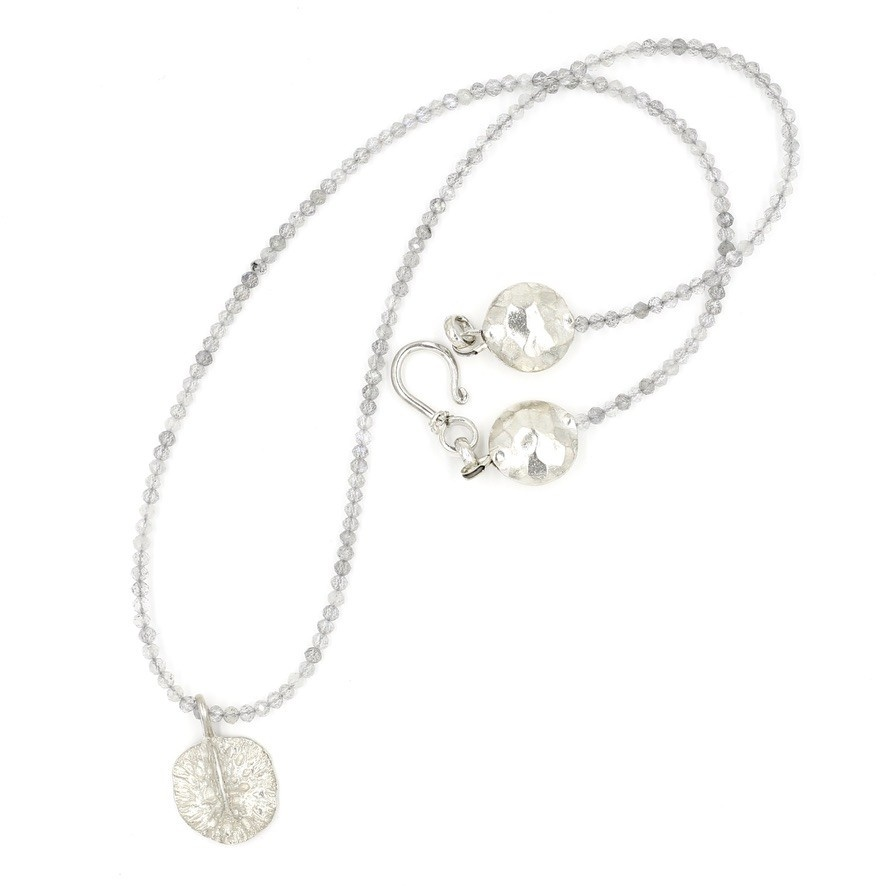 Alligator Scute Pendant Necklace - Sterling Silver (Small)