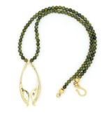Rattlesnake Jawbone Pendant Necklace - Vermeil
