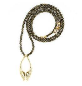 Rattlesnake Jawbone Pendant Necklace - Vermeil (Opera Length)
