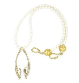 Rattlesnake Jawbone Pendant Necklace - 14K Gold