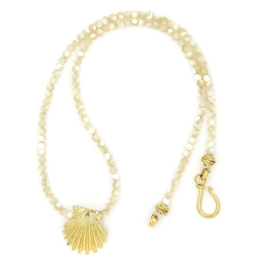 Scallop Shell Pendant Necklace - Vermeil (Small)
