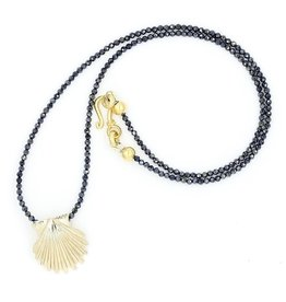 Scallop Shell Pendant Necklace - 14K Gold (Small)