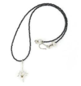 Rattlesnake Vertebrae Pendant Necklace - Sterling Silver (Large)