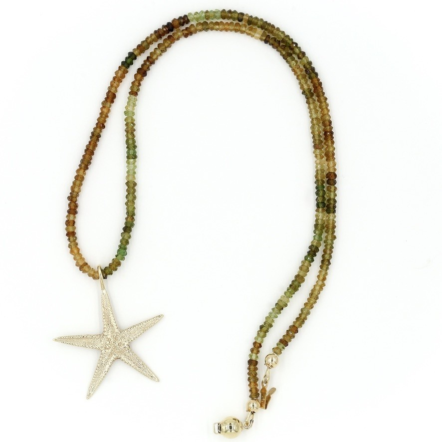 Starfish Pendant Necklace - 14K Gold (Small)