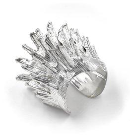 Spiny Murex Conch Cuff - Silver Plate