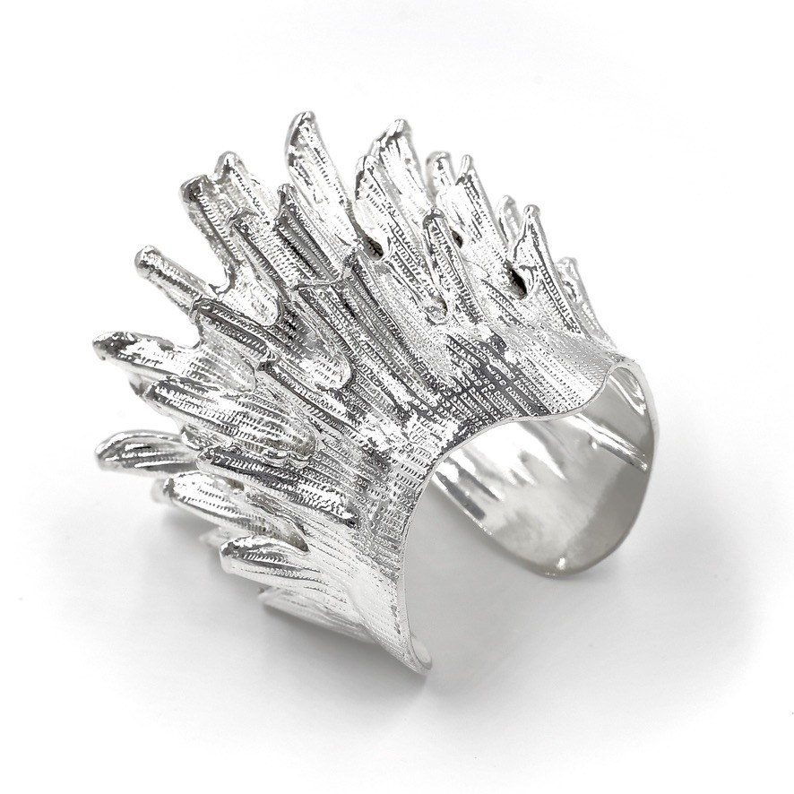 Spiny Murex Conch Cuff - Silver Plate (Single)