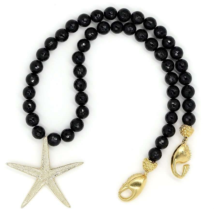 Starfish Pendant Necklace - 14K Gold (Large)