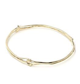 Rattlesnake Rib Bangle -14K Gold (Large)