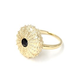 Sea Urchin Ring - 14K Gold (Black Diamond)