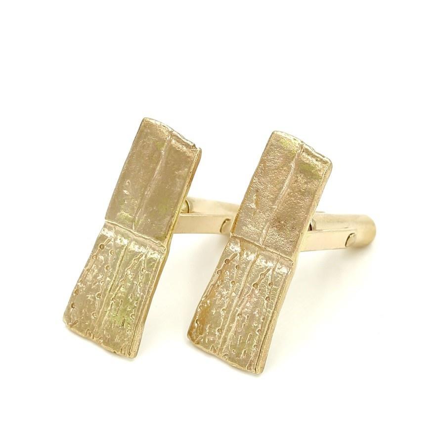 Armadillo Shell Cufflinks - 14K Gold