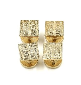Armadillo Shell Shirt Studs - 14K Gold (Set of 4)