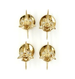Rattlesnake Vertebrae Shirt Studs - 14K Gold (Set of 4)
