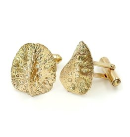 Alligator Scute Cufflinks - 14K Gold