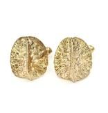 Alligator Scute Cufflinks - 14K Gold