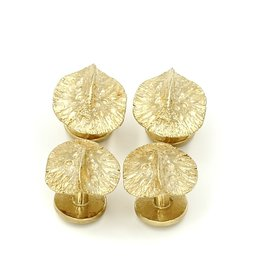 Alligator Scute Shirt Studs - 14K Gold (Set of 4)