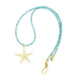 Starfish Pendant Necklace - Vermeil (Small)