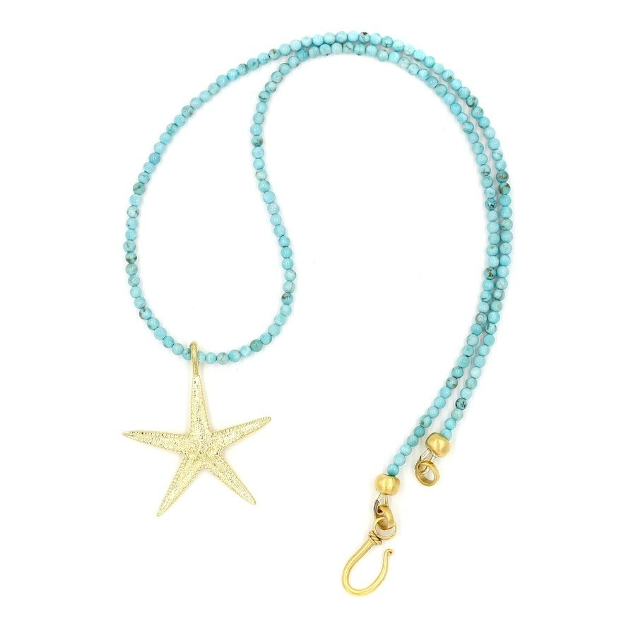 Starfish Pendant Necklace - Vermeil (Small)