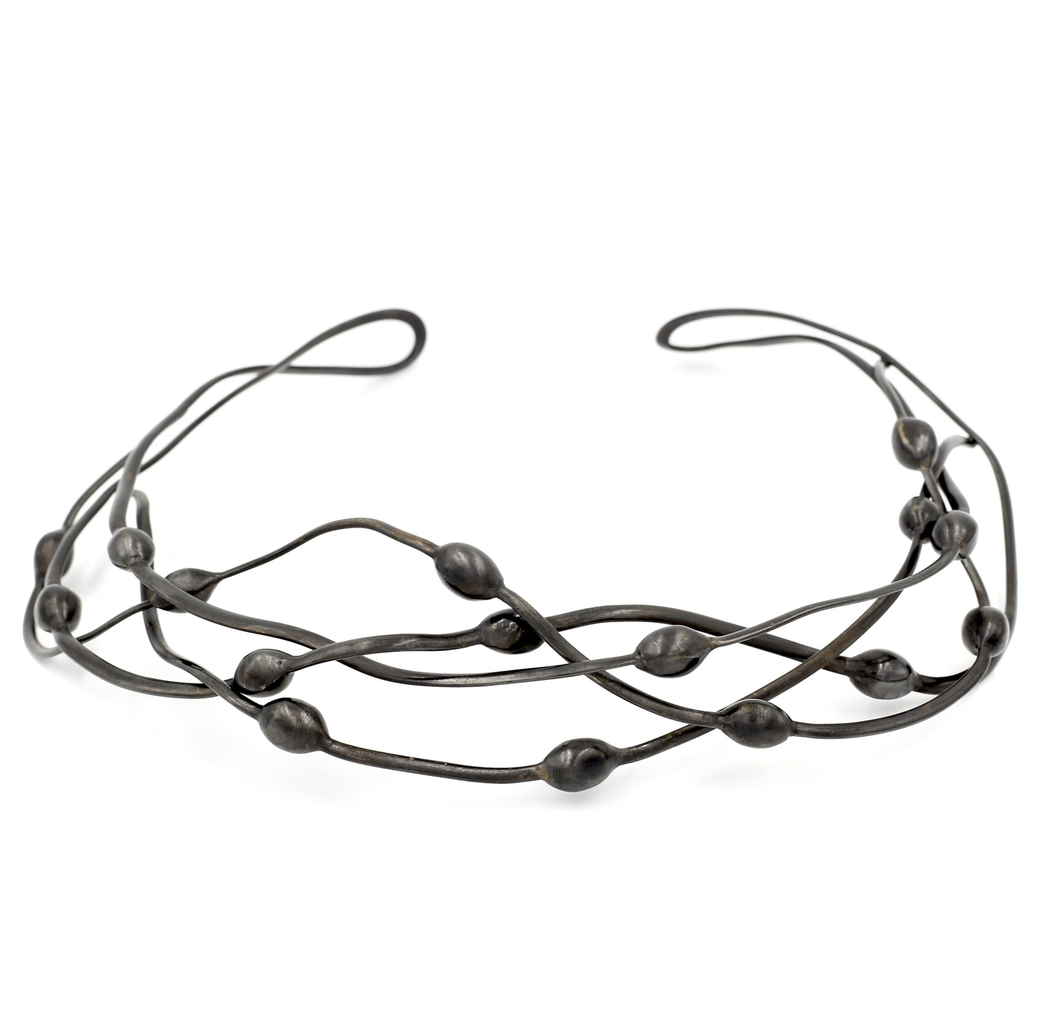 Seaweed Necklace - Alpaca (Oxidized)
