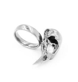 Bird Skull Ring - Sterling Silver (Small)