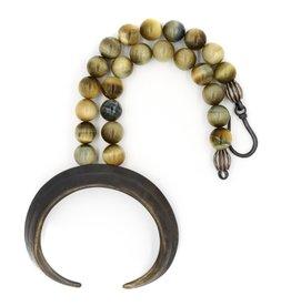 Boars Tusk Pendant Necklace - Alpaca (Large) - Oxidized