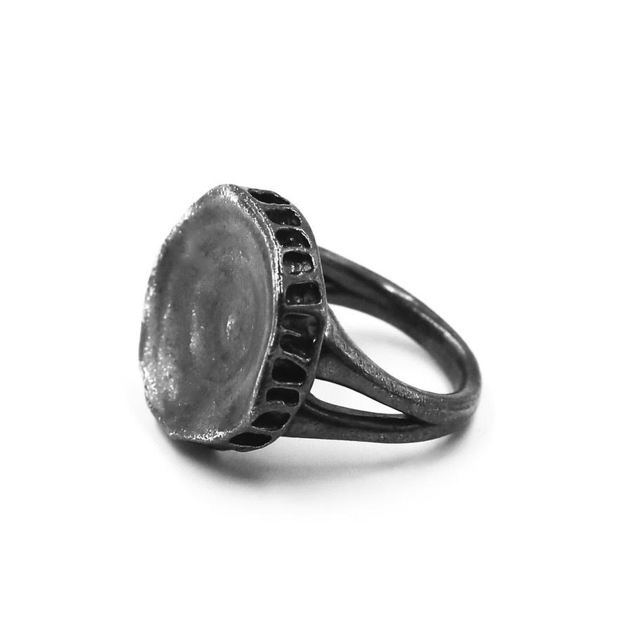 Shark Vertebrae Ring - Sterling Silver (Oxidized)