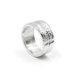 Armadillo Shell Ring - Sterling Silver (Small)