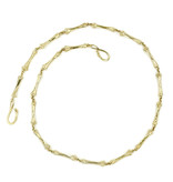 Alligator Toe Bone Necklace - Vermeil (18 Digit)