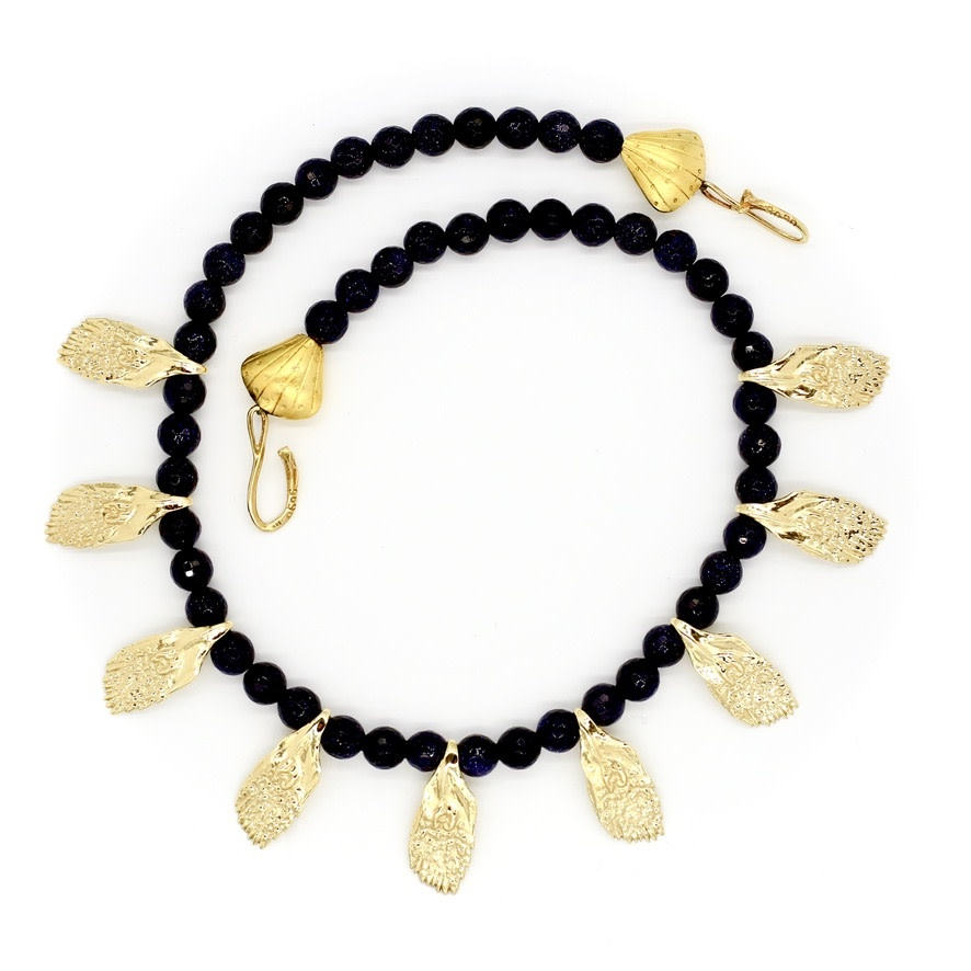 Garfish Scale Necklace - Vermeil