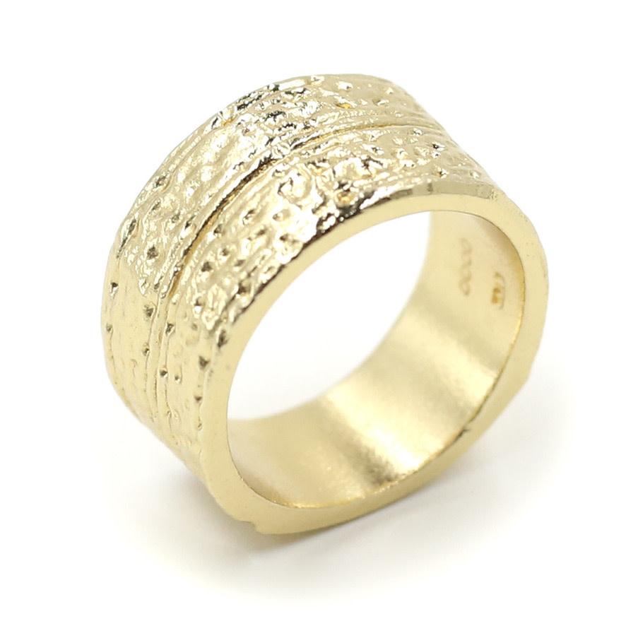 Armadillo Shell Ring - Vermeil (Small)