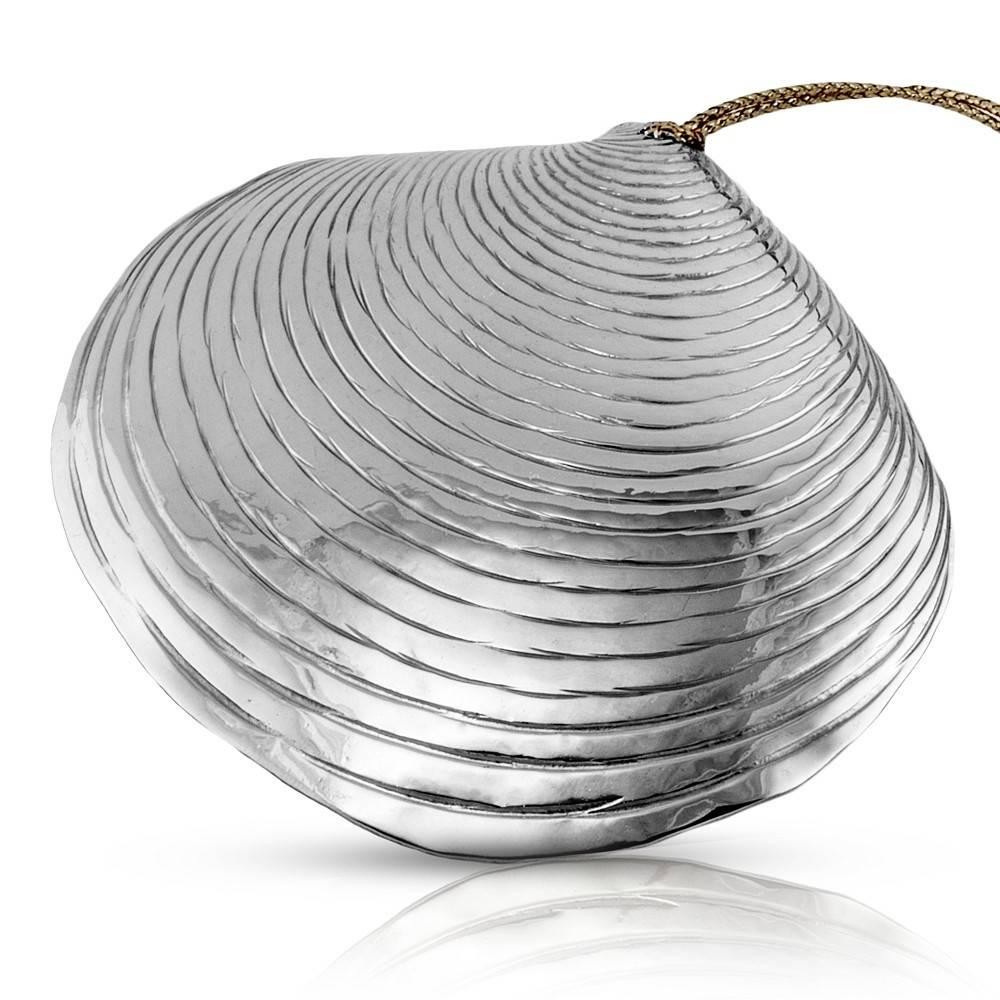 Clam Shell Ornament - Alpaca