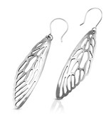 Cicada Wing Earrings - Alpaca
