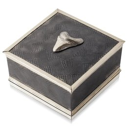 Megalodon Shark Tooth Keepsake Box - Alpaca