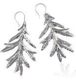 Oak Leaf Earrings - Alpaca