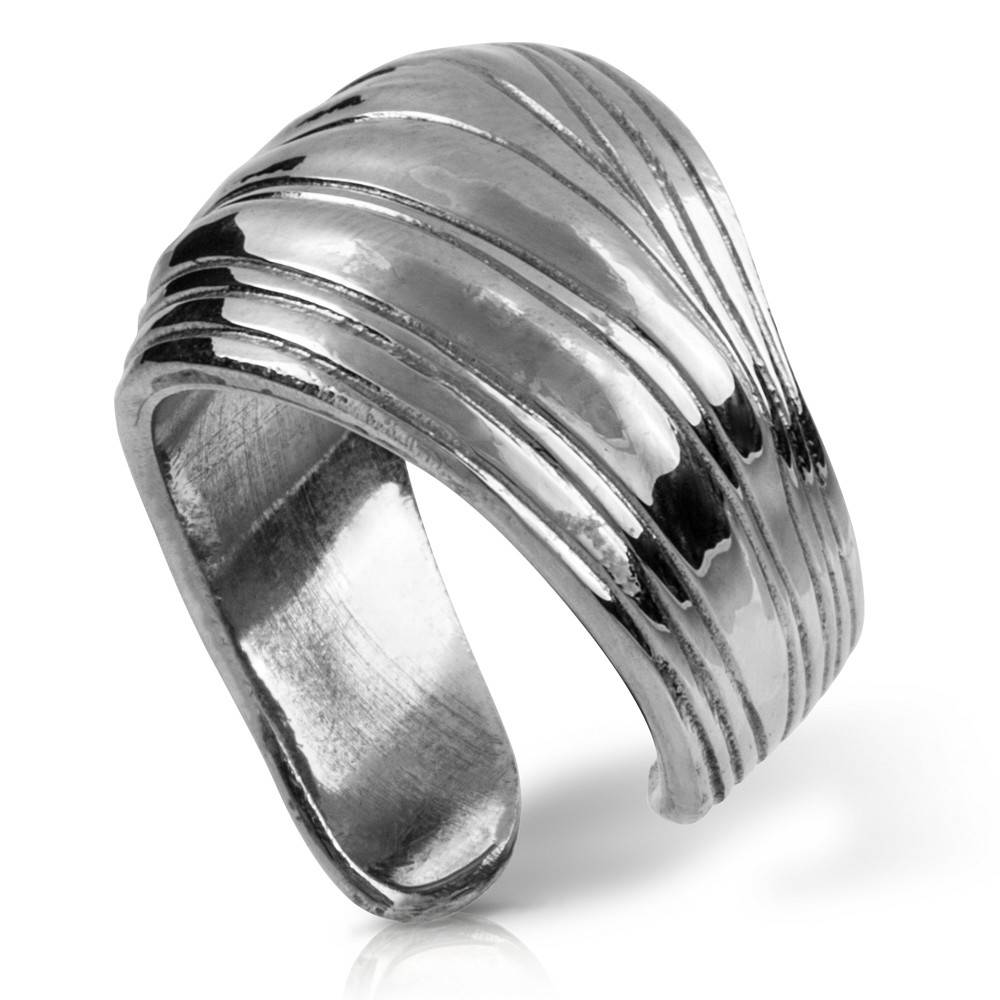 Palm Frond Ring - Alpaca (Small)