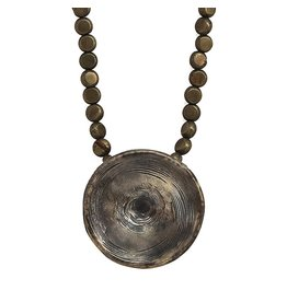 Shark Vertebrae Pendant Necklace - Alpaca (Oxidized)