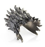 Spiny Murex Conch Cuff - Alpaca (Double) - Oxidized