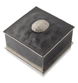 Turtle Shell Keepsake Box - Alpaca
