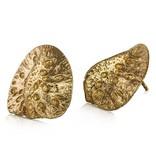 Alligator Scute Earrings - 14K Gold (Large)