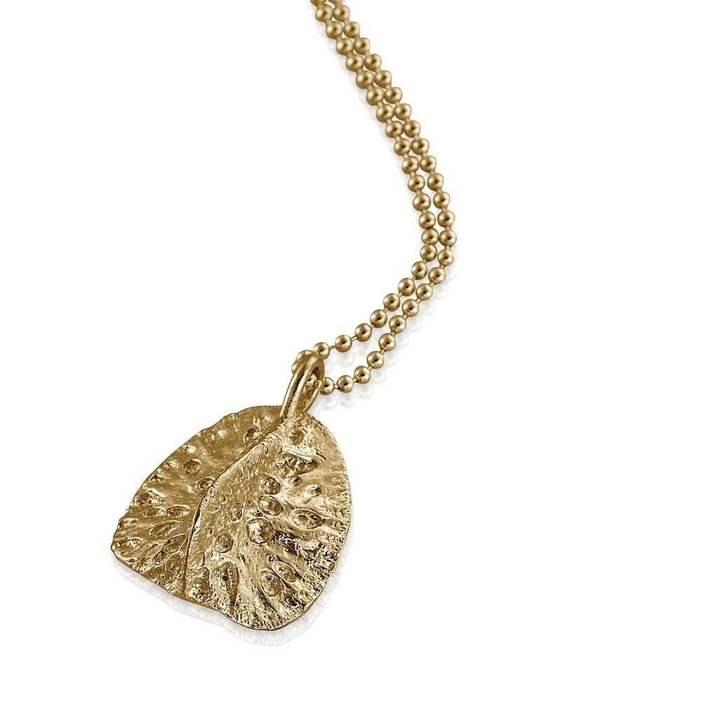 Alligator Scute Pendant - 14K Gold (Large)