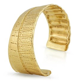 Armadillo Shell Cuff - 14K Gold