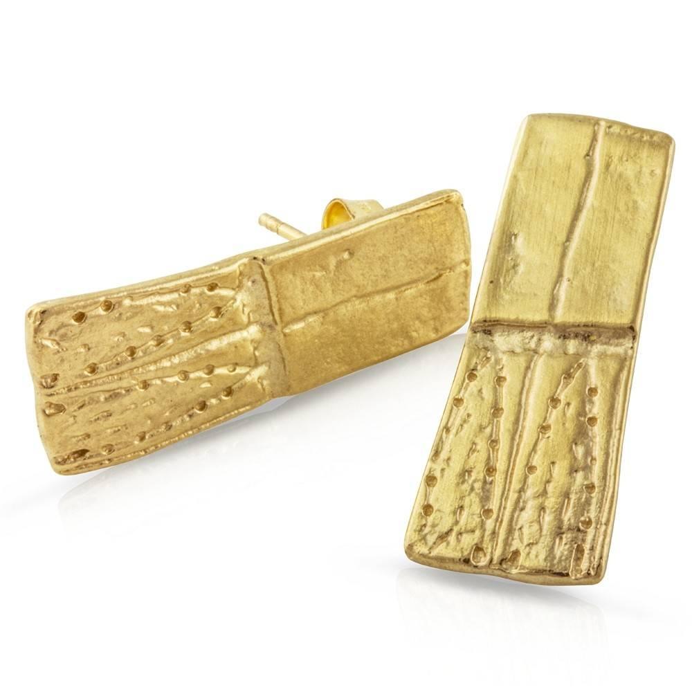 Armadillo Shell Earrings - 14K Gold