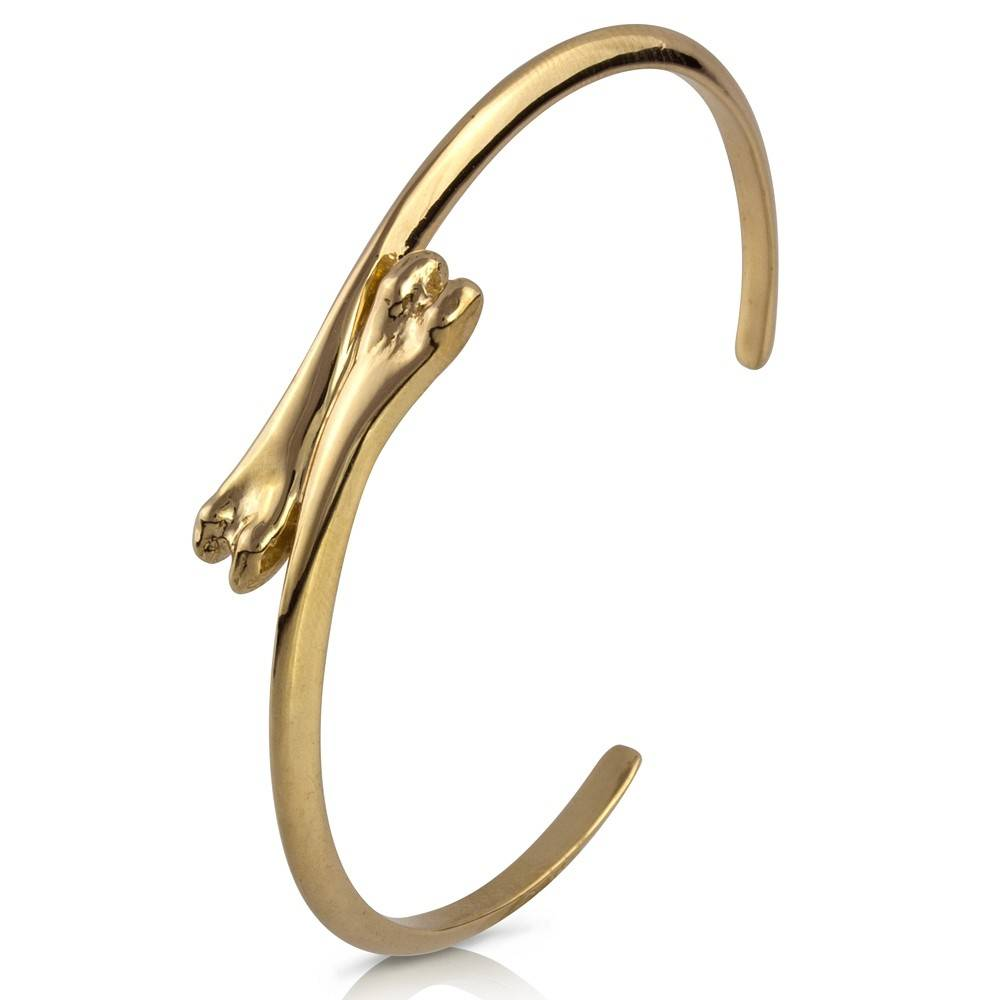 Raccoon Pecker Cuff - 14K Gold
