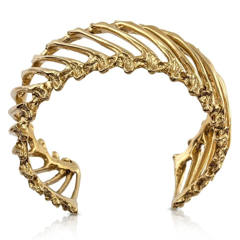 Rattlesnake Rib Multi Cuff - 14K Gold