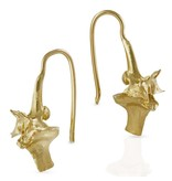 Rattlesnake Vertebrae Earrings - 14K Gold (Small)